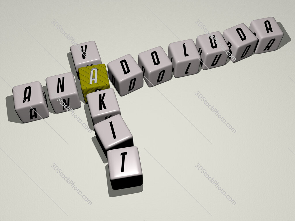 Anadoluda Vakit crossword by cubic dice letters