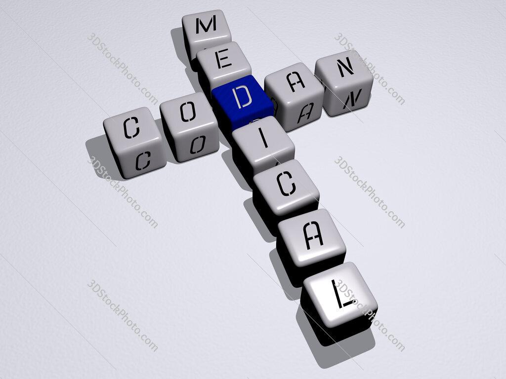 Codan Medical crossword by cubic dice letters
