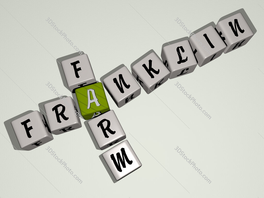 Franklin Farm crossword by cubic dice letters