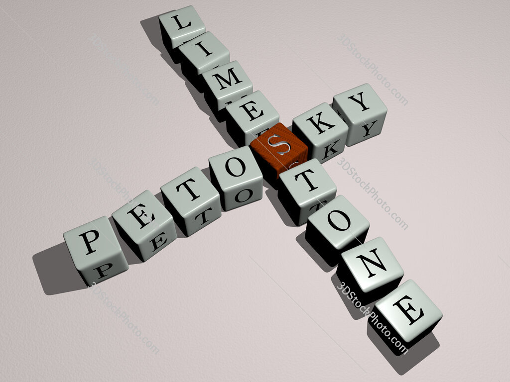 Petosky Limestone crossword by cubic dice letters