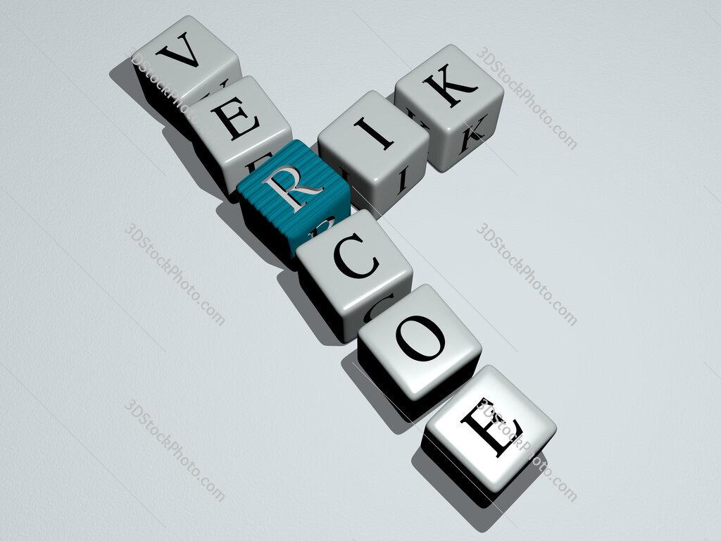 Rik Vercoe crossword by cubic dice letters