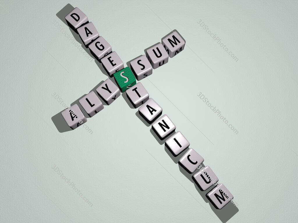 Alyssum dagestanicum crossword by cubic dice letters
