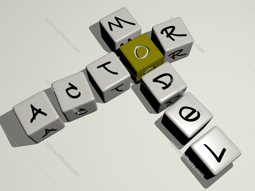 Actor model crossword by cubic dice letters