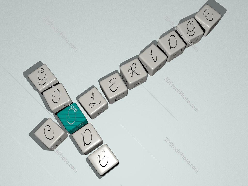 Coleridge Goode crossword by cubic dice letters