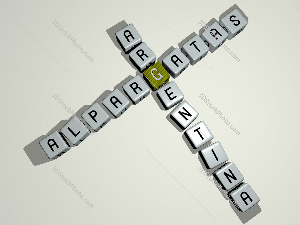 Alpargatas Argentina crossword by cubic dice letters