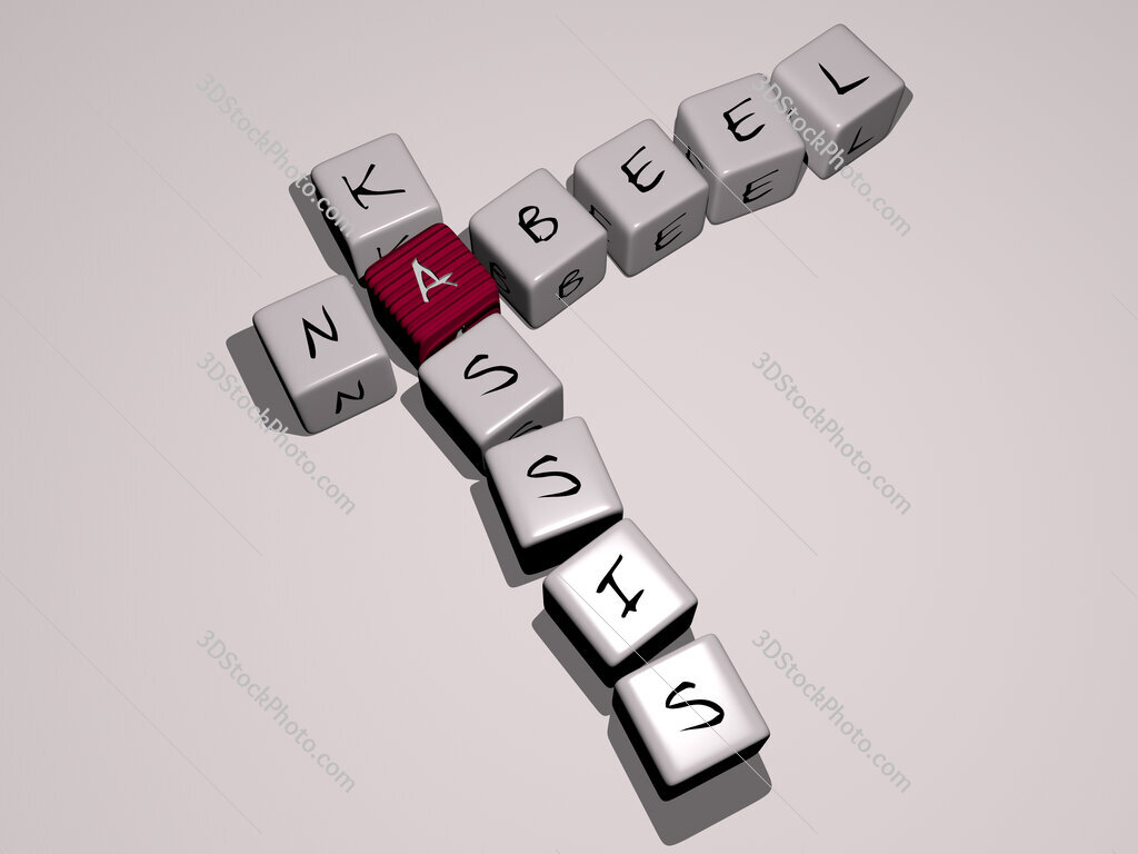 Nabeel Kassis crossword by cubic dice letters