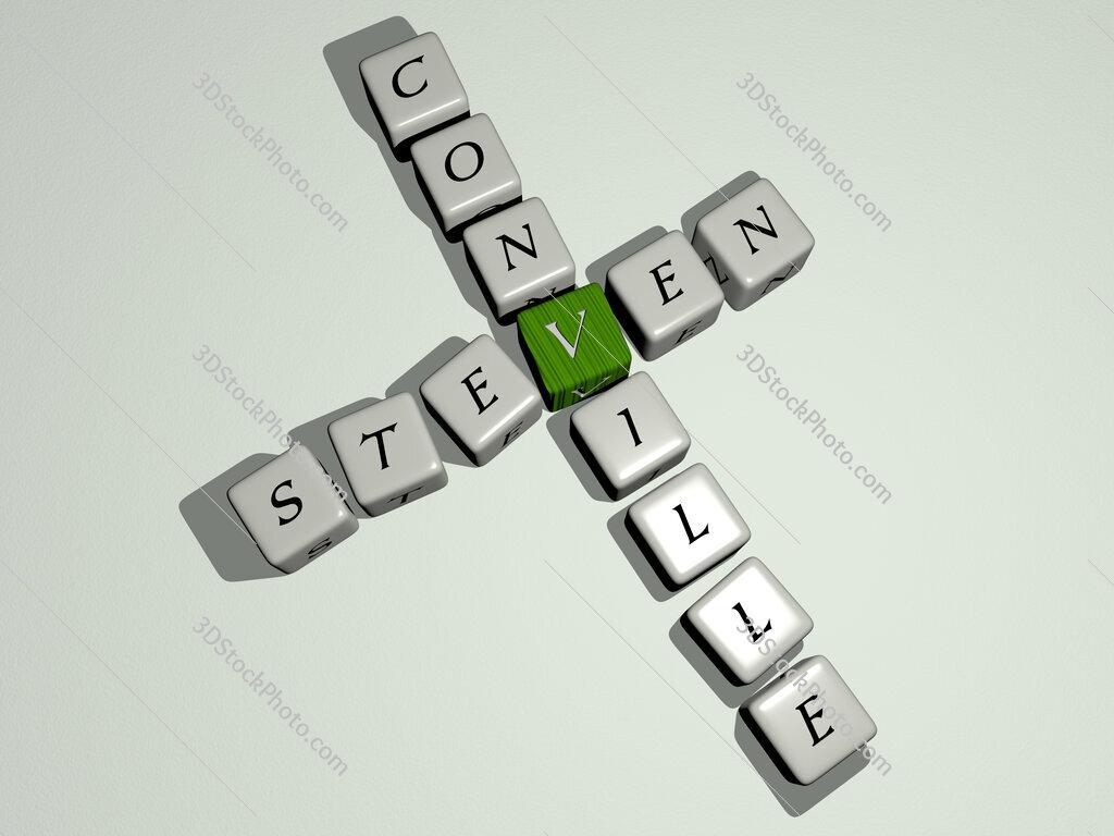 Steven Conville crossword by cubic dice letters