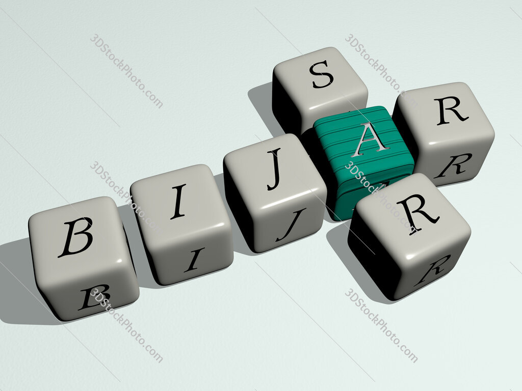 Bijar Sar crossword by cubic dice letters