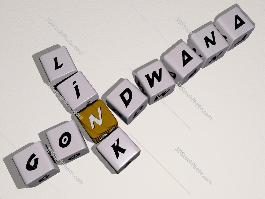Gondwana Link crossword by cubic dice letters