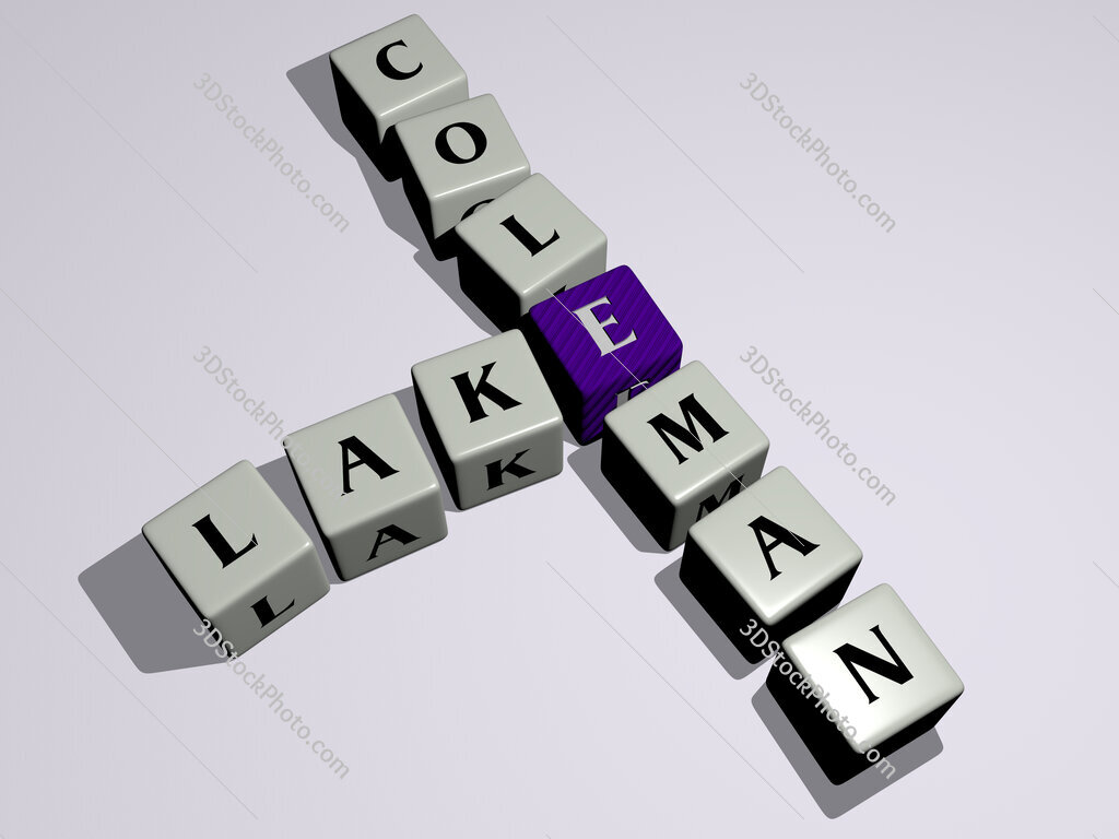 Lake Coleman crossword by cubic dice letters