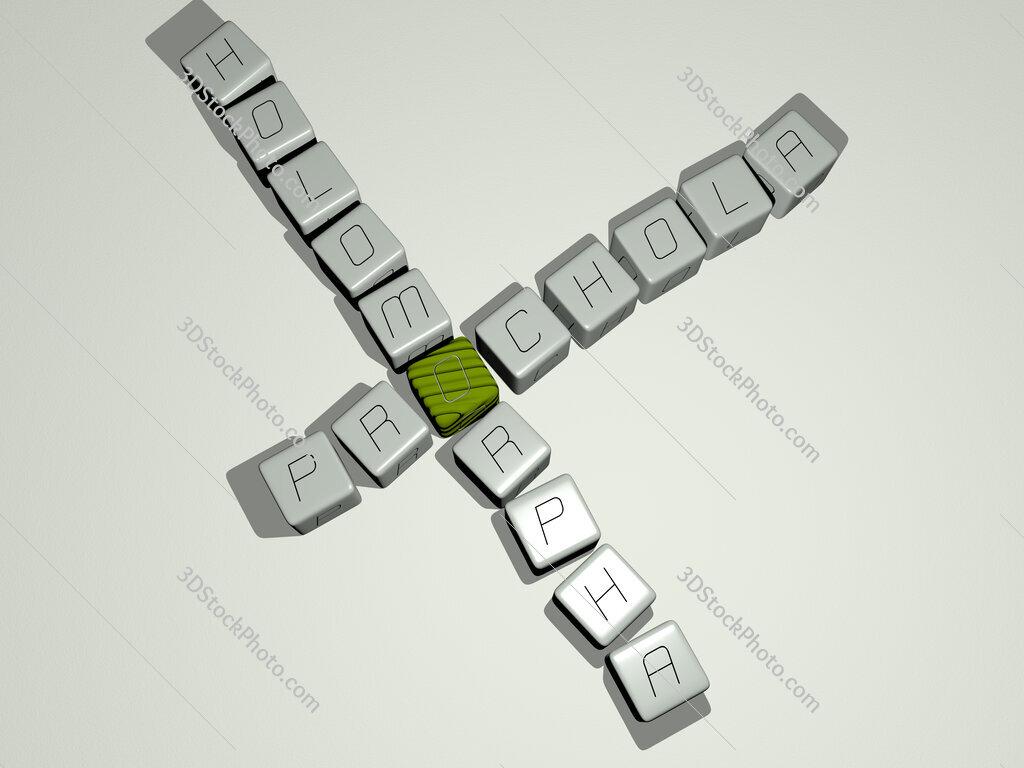 Prochola holomorpha crossword by cubic dice letters
