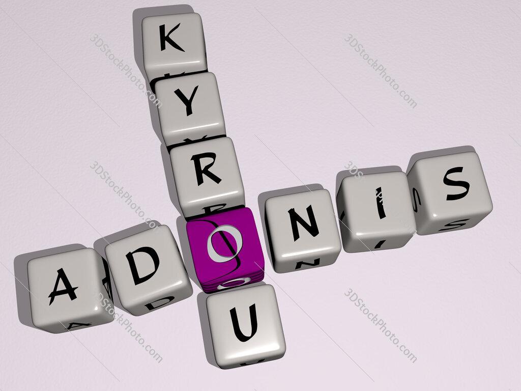 Adonis Kyrou crossword by cubic dice letters