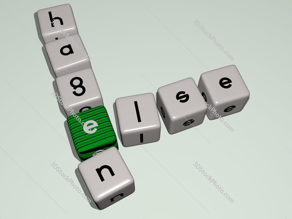 Else Hagen crossword by cubic dice letters