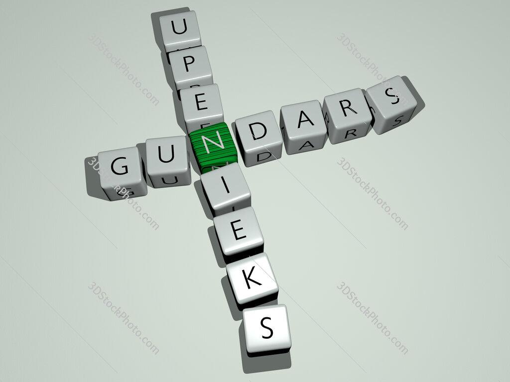 Gundars Upenieks crossword by cubic dice letters