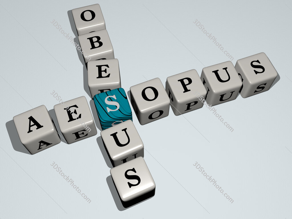 Aesopus obesus crossword by cubic dice letters