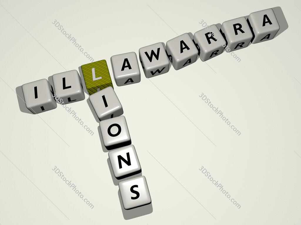 Illawarra Lions crossword by cubic dice letters