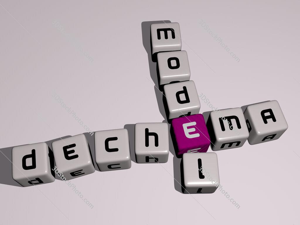 DECHEMA model crossword by cubic dice letters