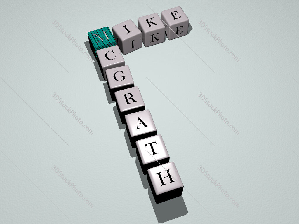 Mike McGrath crossword by cubic dice letters