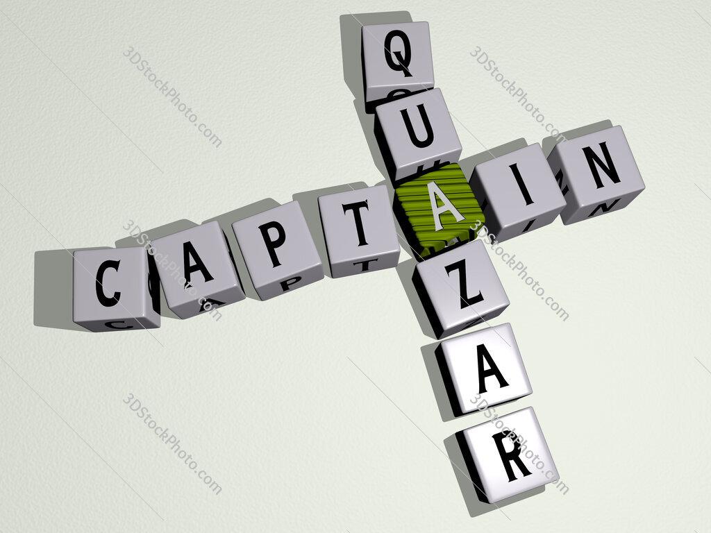 Captain Quazar crossword by cubic dice letters