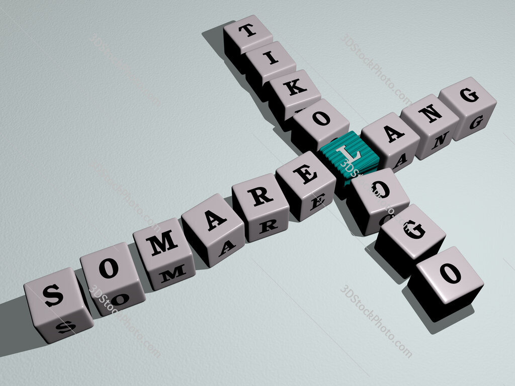 Somarelang Tikologo crossword by cubic dice letters