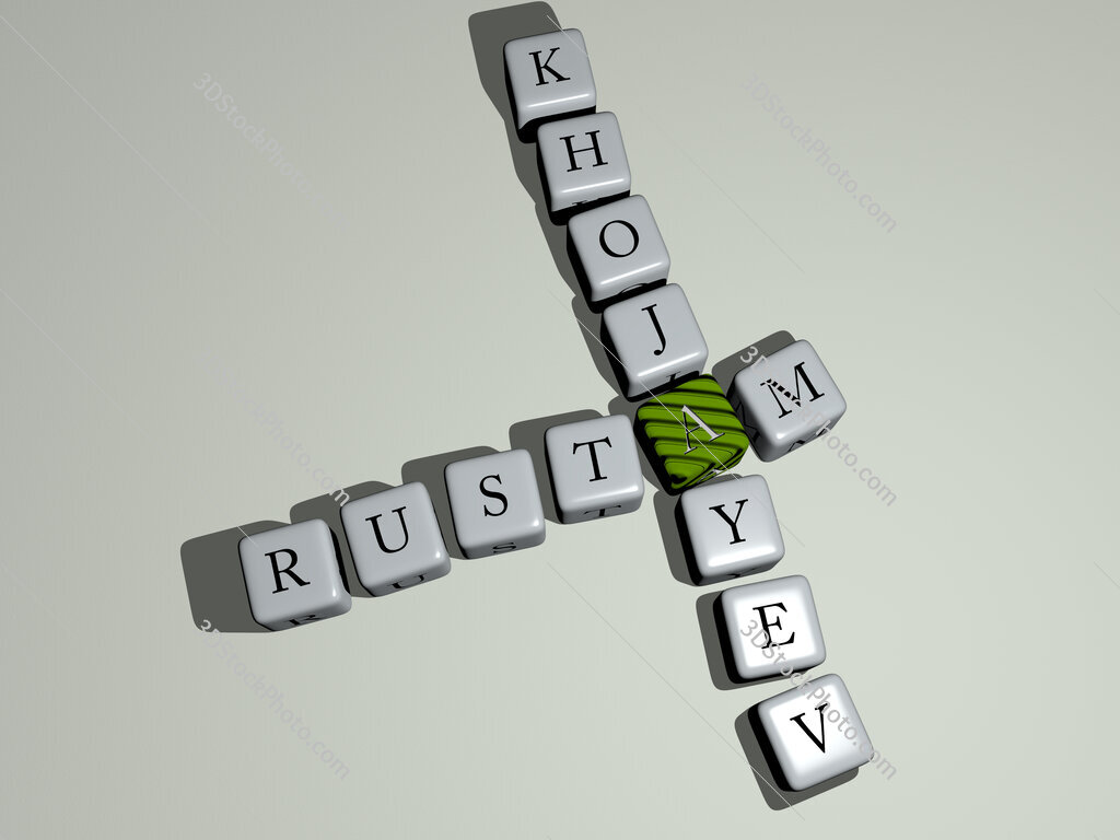 Rustam Khojayev crossword by cubic dice letters