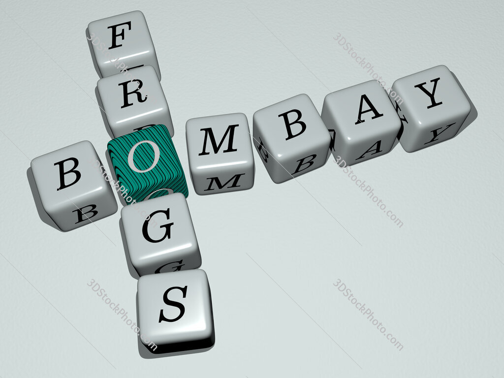 Bombay frogs crossword by cubic dice letters