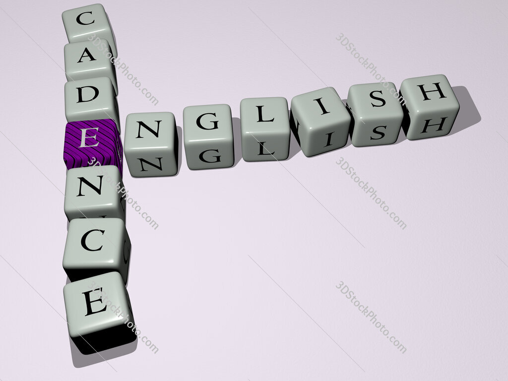 English cadence crossword by cubic dice letters