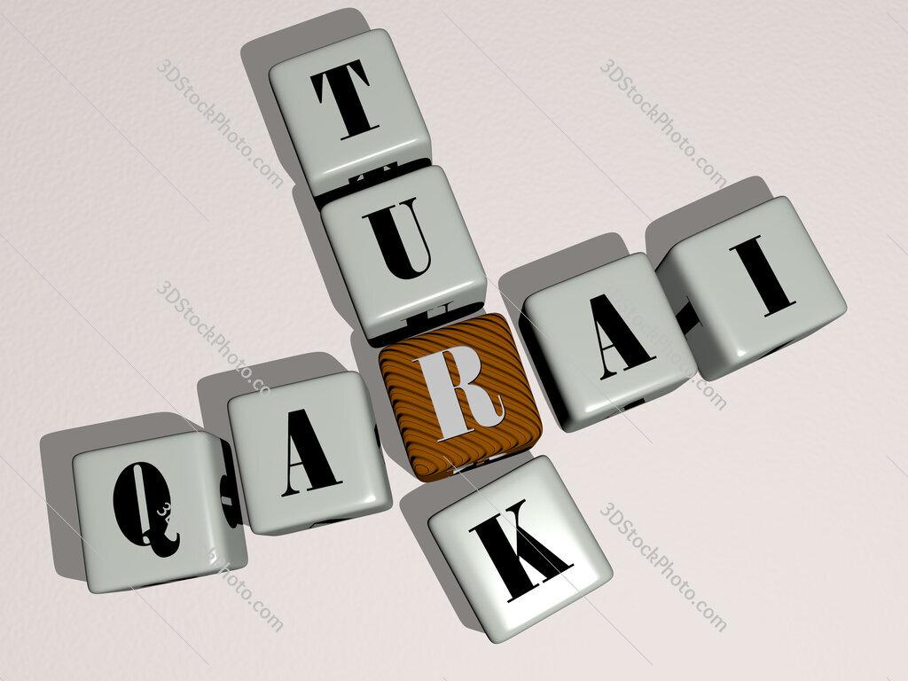 Qarai Turk crossword by cubic dice letters