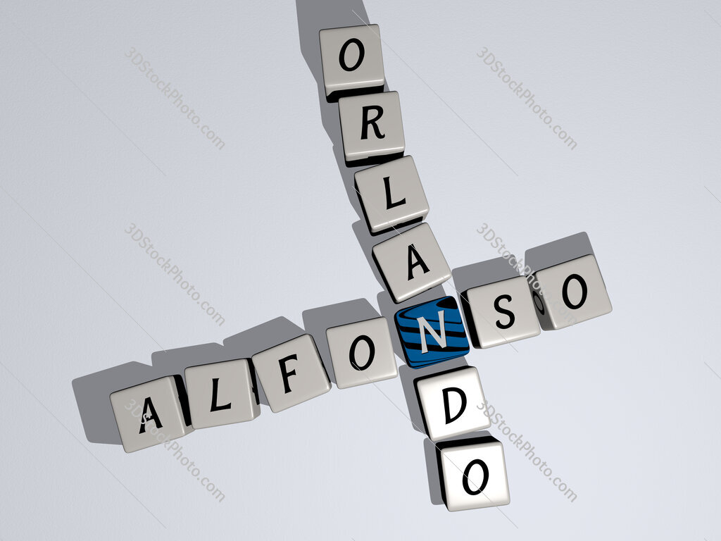 Alfonso Orlando crossword by cubic dice letters