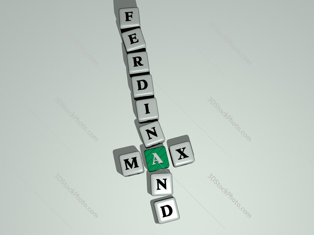 Max Ferdinand crossword by cubic dice letters