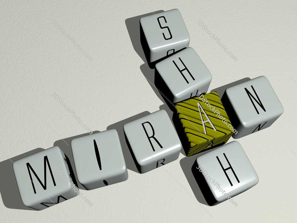Miran Shah crossword by cubic dice letters