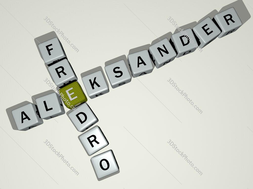Aleksander Fredro crossword by cubic dice letters