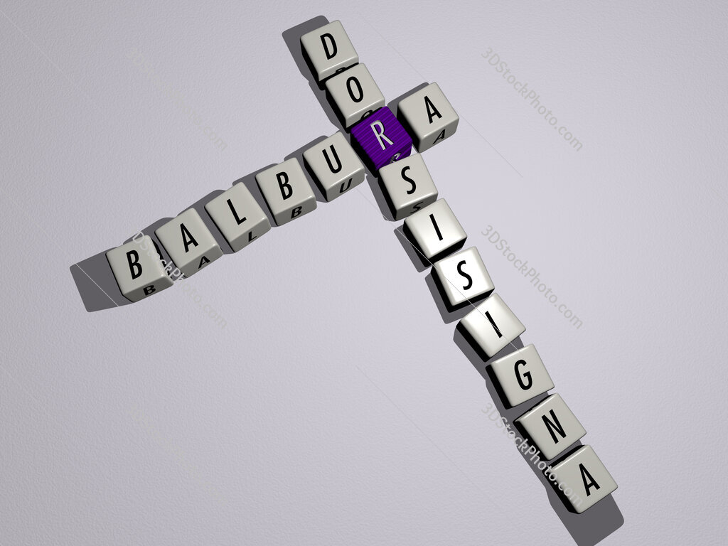 Balbura dorsisigna crossword by cubic dice letters
