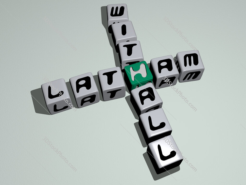 Latham Withall crossword by cubic dice letters
