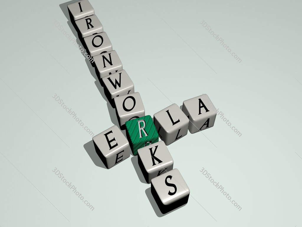 Erla Ironworks crossword by cubic dice letters