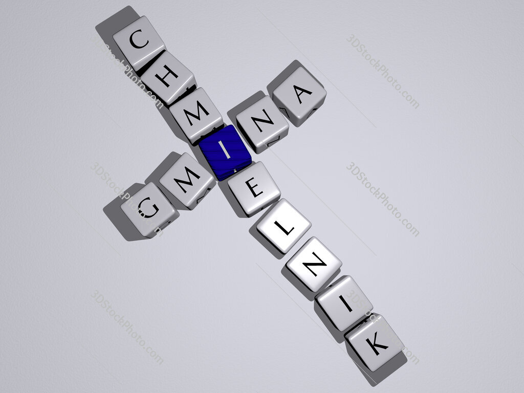 Gmina Chmielnik crossword by cubic dice letters