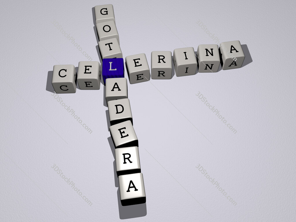 Celerina Gotladera crossword by cubic dice letters