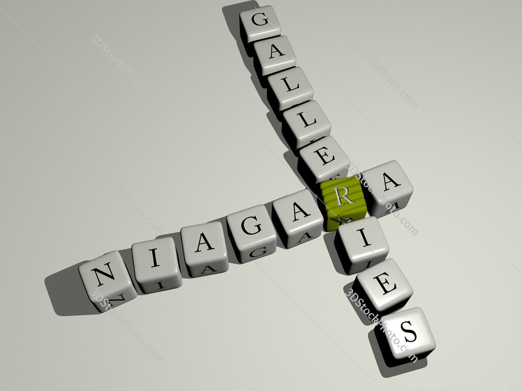 Niagara Galleries crossword by cubic dice letters
