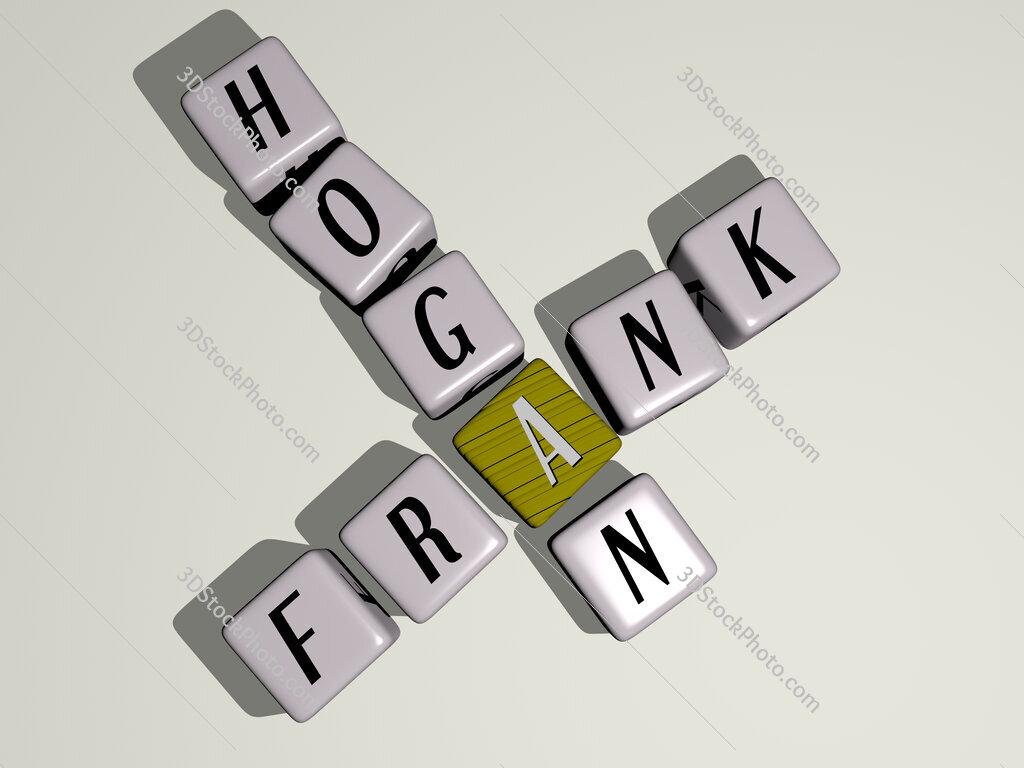 Frank Hogan crossword by cubic dice letters