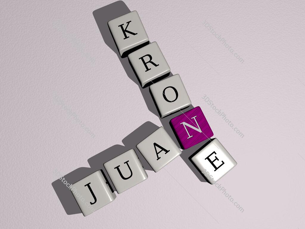 Juan Krone crossword by cubic dice letters
