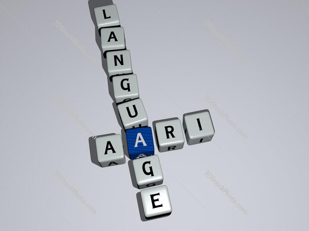 Aari language crossword by cubic dice letters