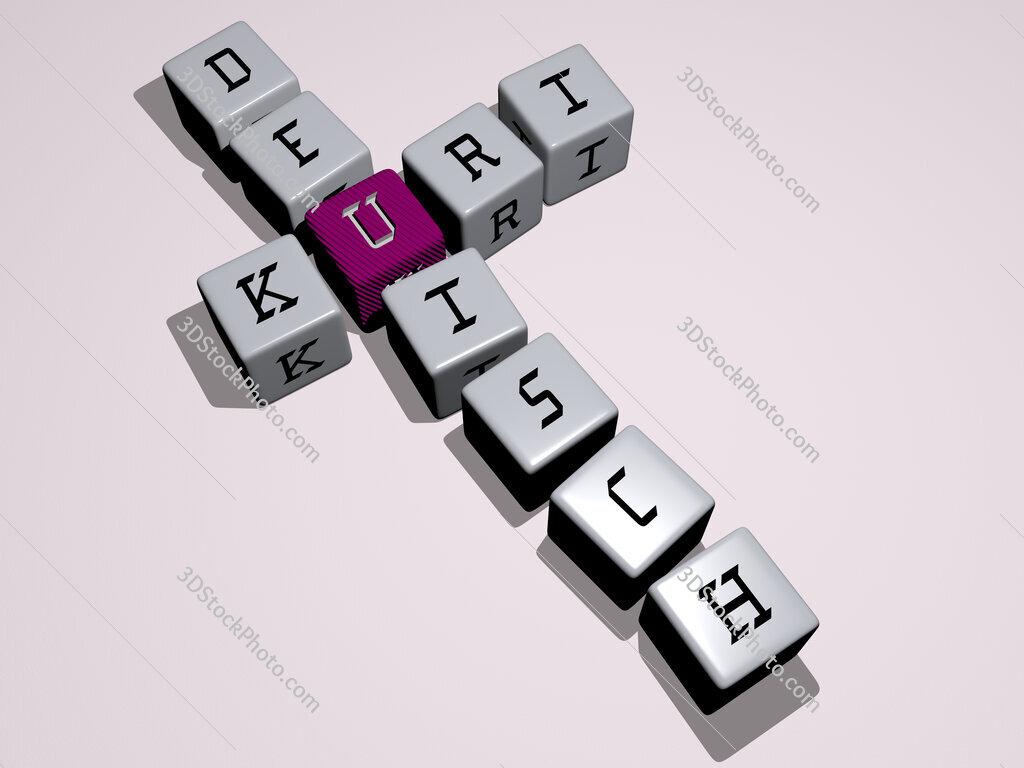 Kurt Deutsch crossword by cubic dice letters
