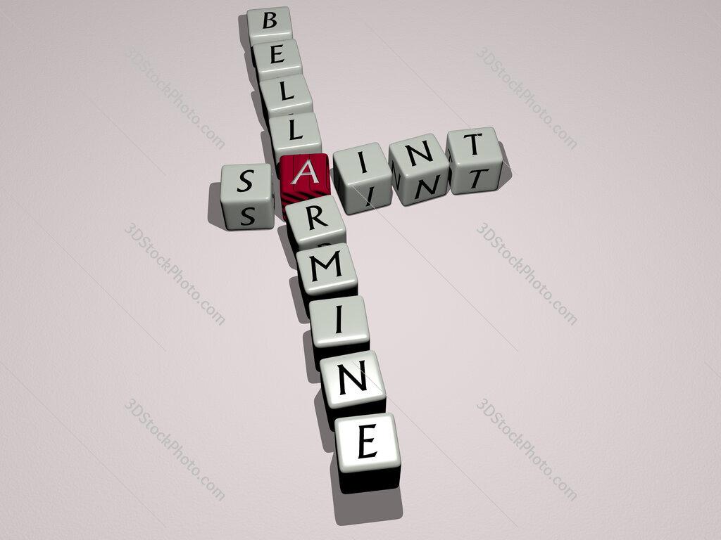 Saint Bellarmine crossword by cubic dice letters