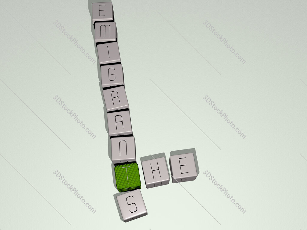 The Emigrants crossword by cubic dice letters