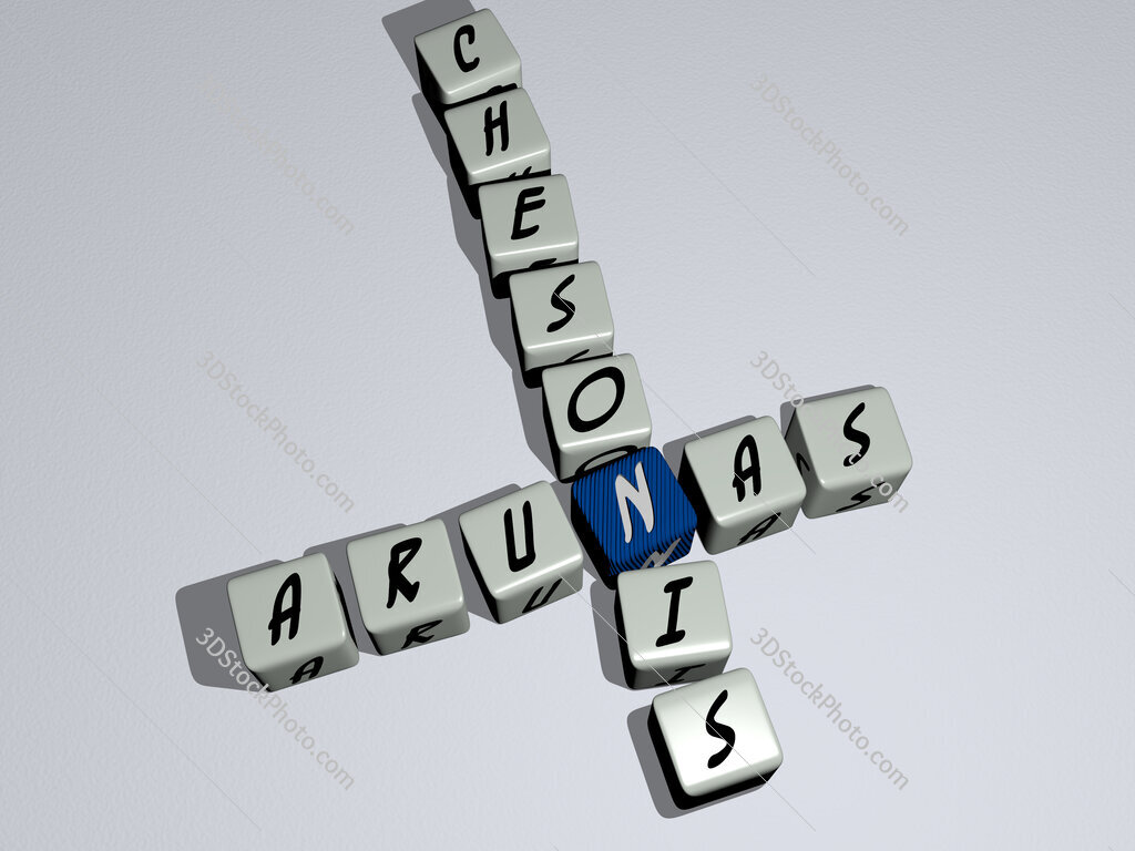 Arunas Chesonis crossword by cubic dice letters