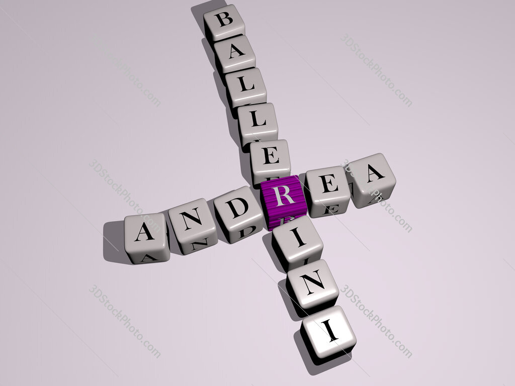 Andrea Ballerini crossword by cubic dice letters