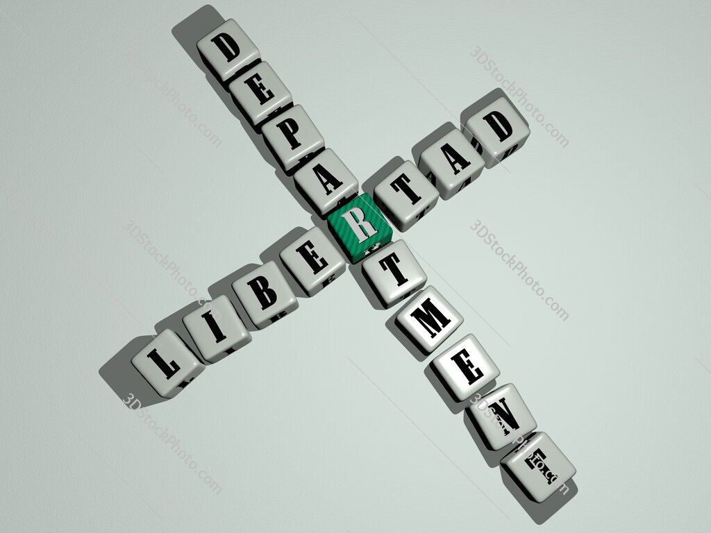 Libertad Department crossword by cubic dice letters