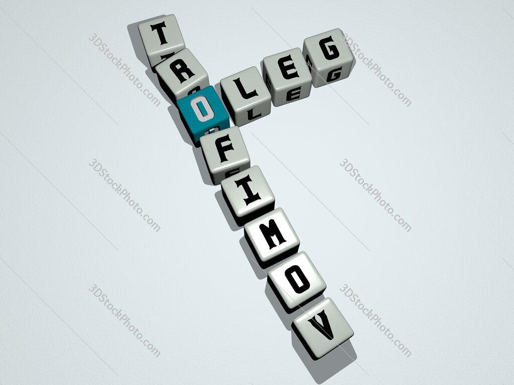 Oleg Trofimov crossword by cubic dice letters