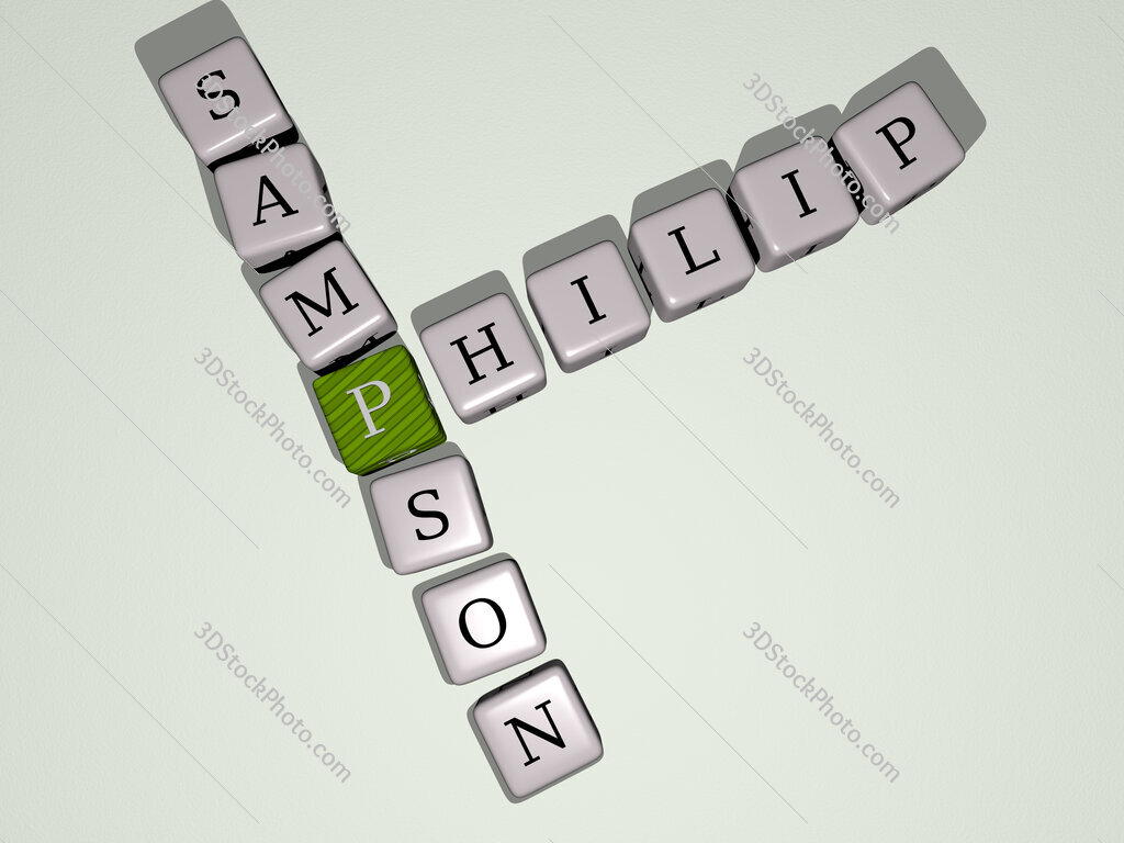 Philip Sampson crossword by cubic dice letters