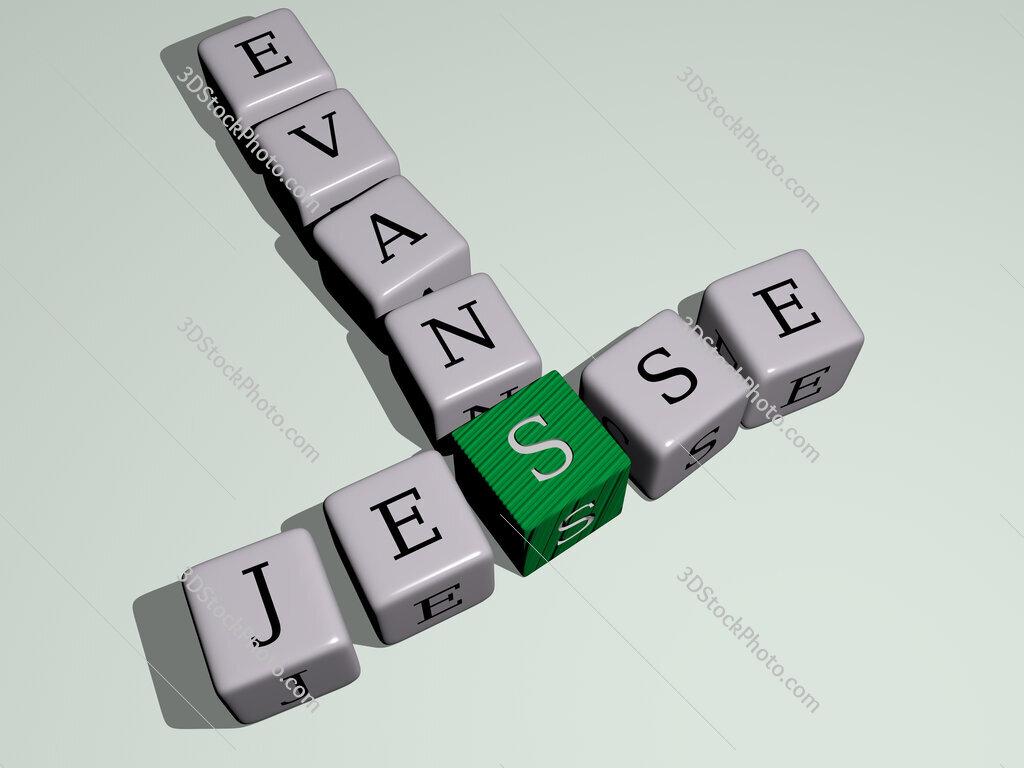 Jesse Evans crossword by cubic dice letters